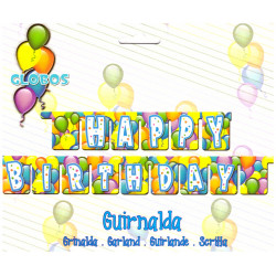 Guirnalda 'Happy Birthday', Globos