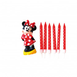 Set Velas Minnie, 6 unidades