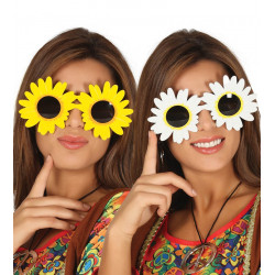 Gafas margaritas blanca-amarilla