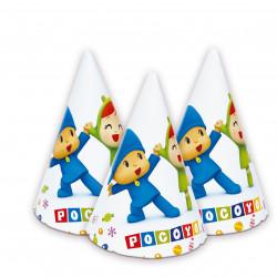 Sombreros Pocoyo y Nina, 6 Unidades