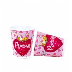 Vasos Princess, 8 Unidades