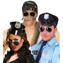 Gafas de policía, lentes oscuros
