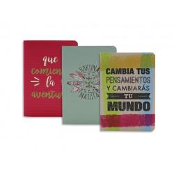 Pack 3 Libretas, 'Que comience la aventura'