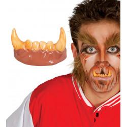 Dientes colmillos hombre lobo
