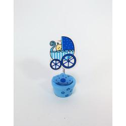 Porta-tarjetas para Bautizos y Baby Shower, Azul