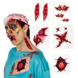 Tatuajes de Heridas Temporales para Halloween