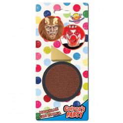 Maquillaje para carnavales marrón, pintura para la cara