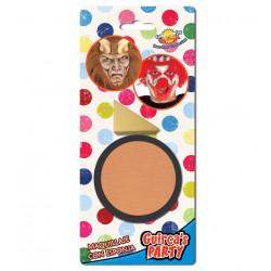 Maquillaje para carnavales color carne, pintura para la cara