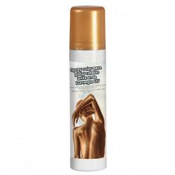 Maquillaje en spray oro para cuerpo y cara
