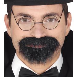 Perilla y bigote vintage con adhesivos