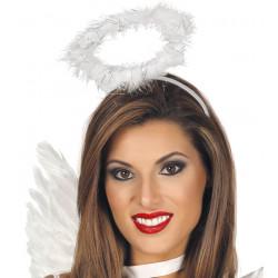 Diadema ángel plumas