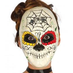 """Mascara """"día de los muertos"""" marfil"""