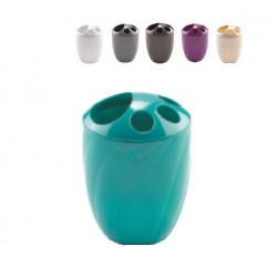 Porta cepillos de plástico para el baño, varios colores