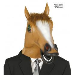 Careta caballo con pelo