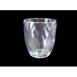 Vaso porta-cepillos transparente. Decoración de cuarto de baño