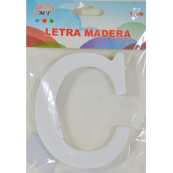 Letra C de Madera 11 cm