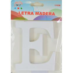 Letra E de Madera 11 cm