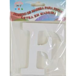 Letra F de Madera 11cm