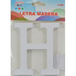 Letra H de Madera 11 cm