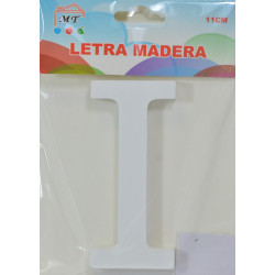 Letra I de Madera 11 cm