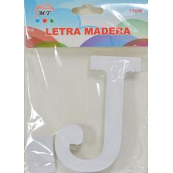 Letra J de Madera 11 cm