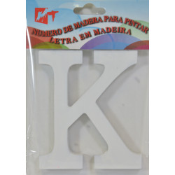 Letra K de Madera 11 cm