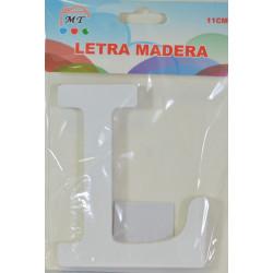 Letra L de Madera 11 cm